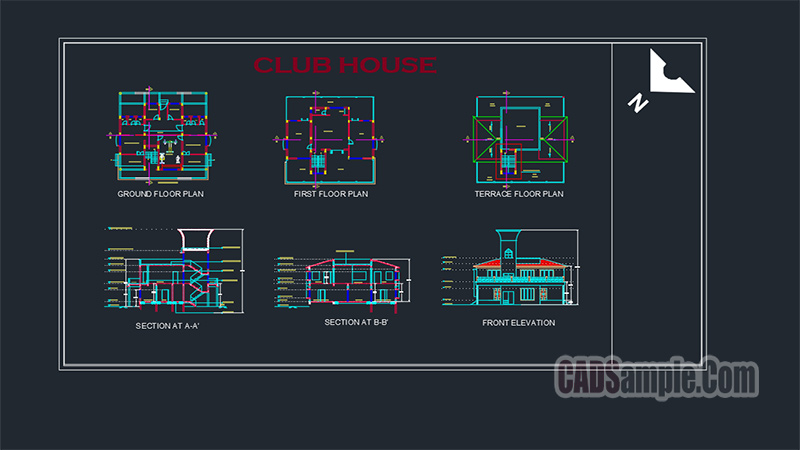 Club House Dwg Project
