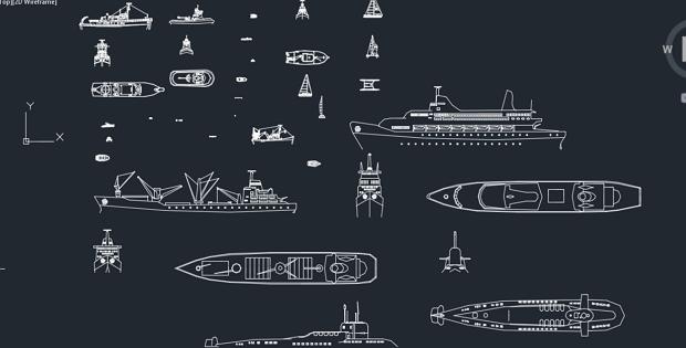 Boats / blocks / boats autocad blocks » CADSample.Com